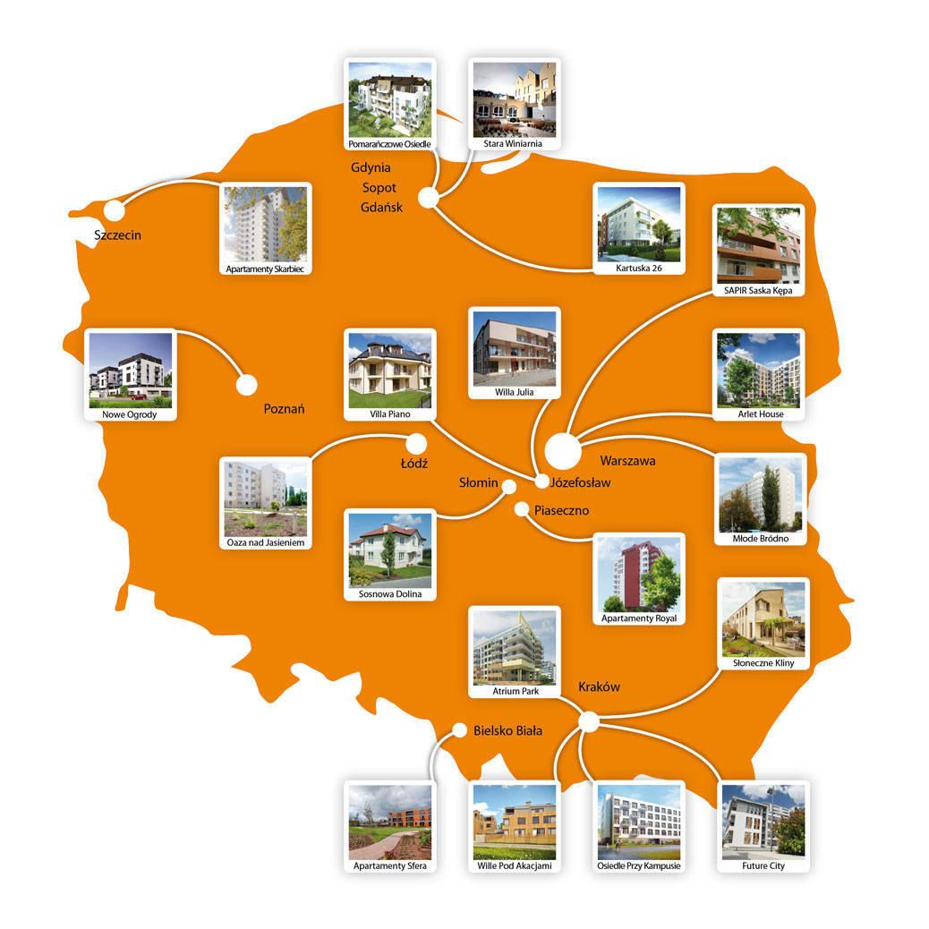 Mapa: Lokalizacja condohoteli; Źródło: redNet Property Group, dział Consultingu, namapie arcgis.com